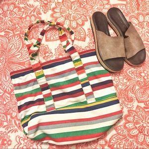 Jcrew Striped Bag